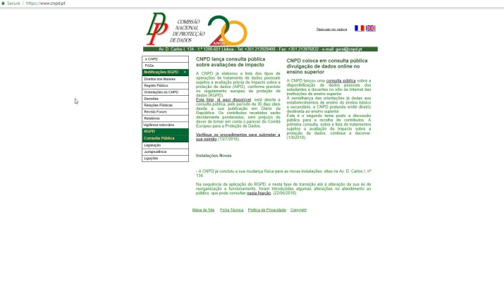 CNPD(Portugal)Website
