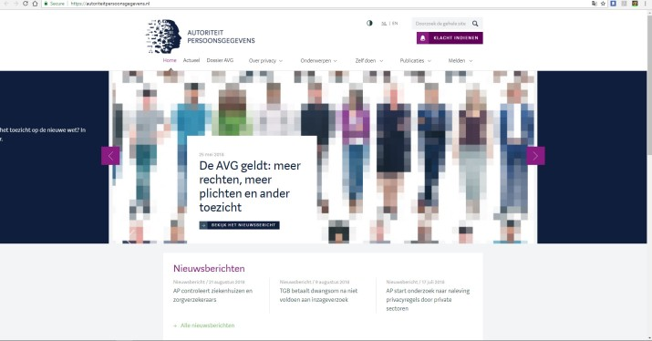DutchDataProtectionWebsiteAug2018