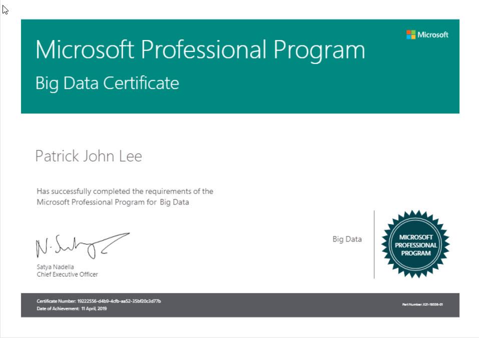 Patrick Lee Microsoft Professional